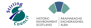 Stirling Council & Historic Environment Scotland logos