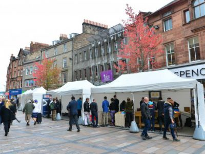 Traditional Building Skills showcase in Stirling