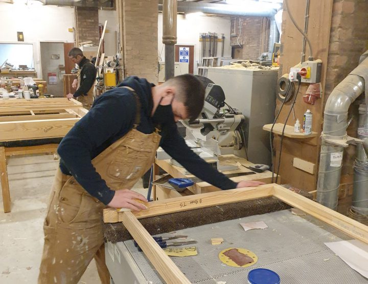Hand Sanding New Sash On Airbench Extractor